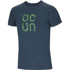 Ocun Bamboo Gear Miehet Lyhythihainen paita , sininen